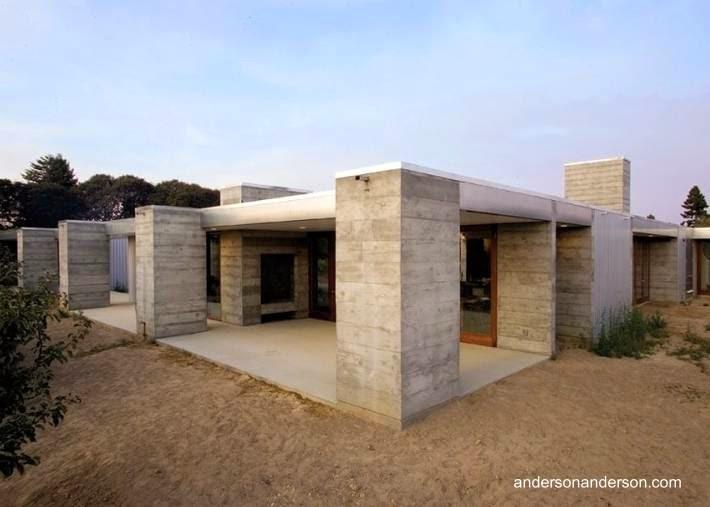 Arquitectura de casas dise o de una casa moderna rural en for Casas modernas rurales
