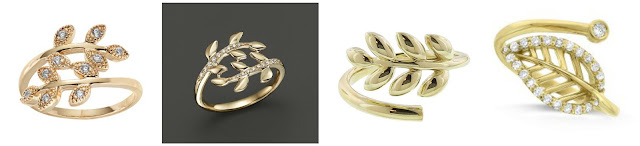 One of these gold leaf rings is from LC Lauren Conrad for $18 and the other three are from designers for hundreds and thousands of dollars (of course, they are real gold and the more affordable ring is not). Can you guess which one is the more affordable ring? Click the links below to see if you are correct!