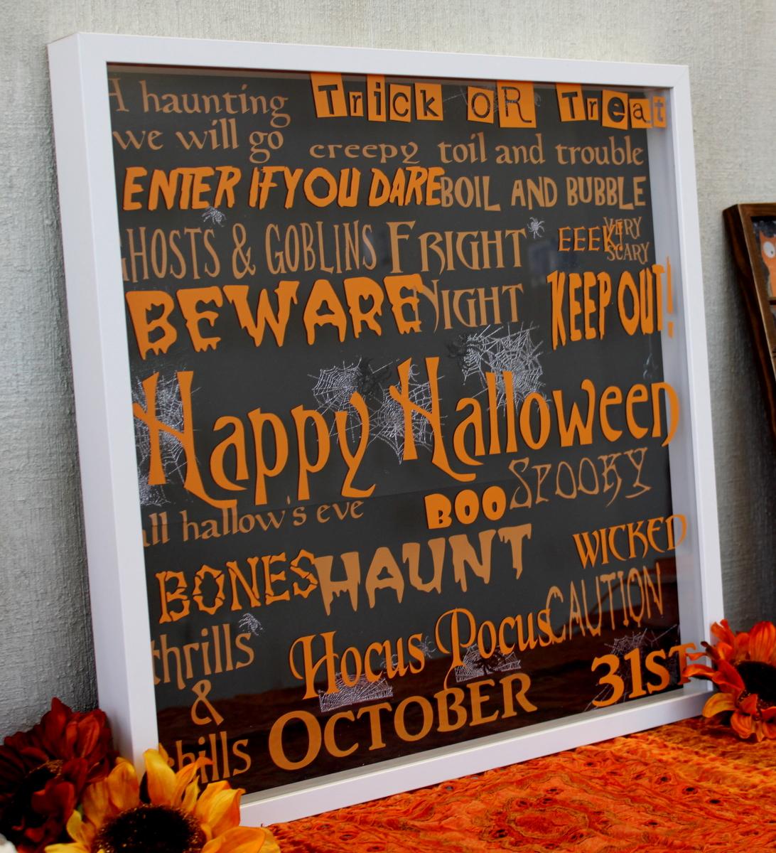 oh my crafts blog: halloween shadow box & vinyl!