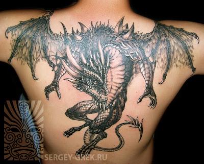 Тату дракон