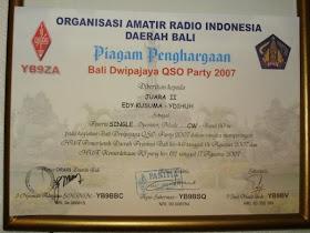 Bali Dwipajaya CW Contest 2007