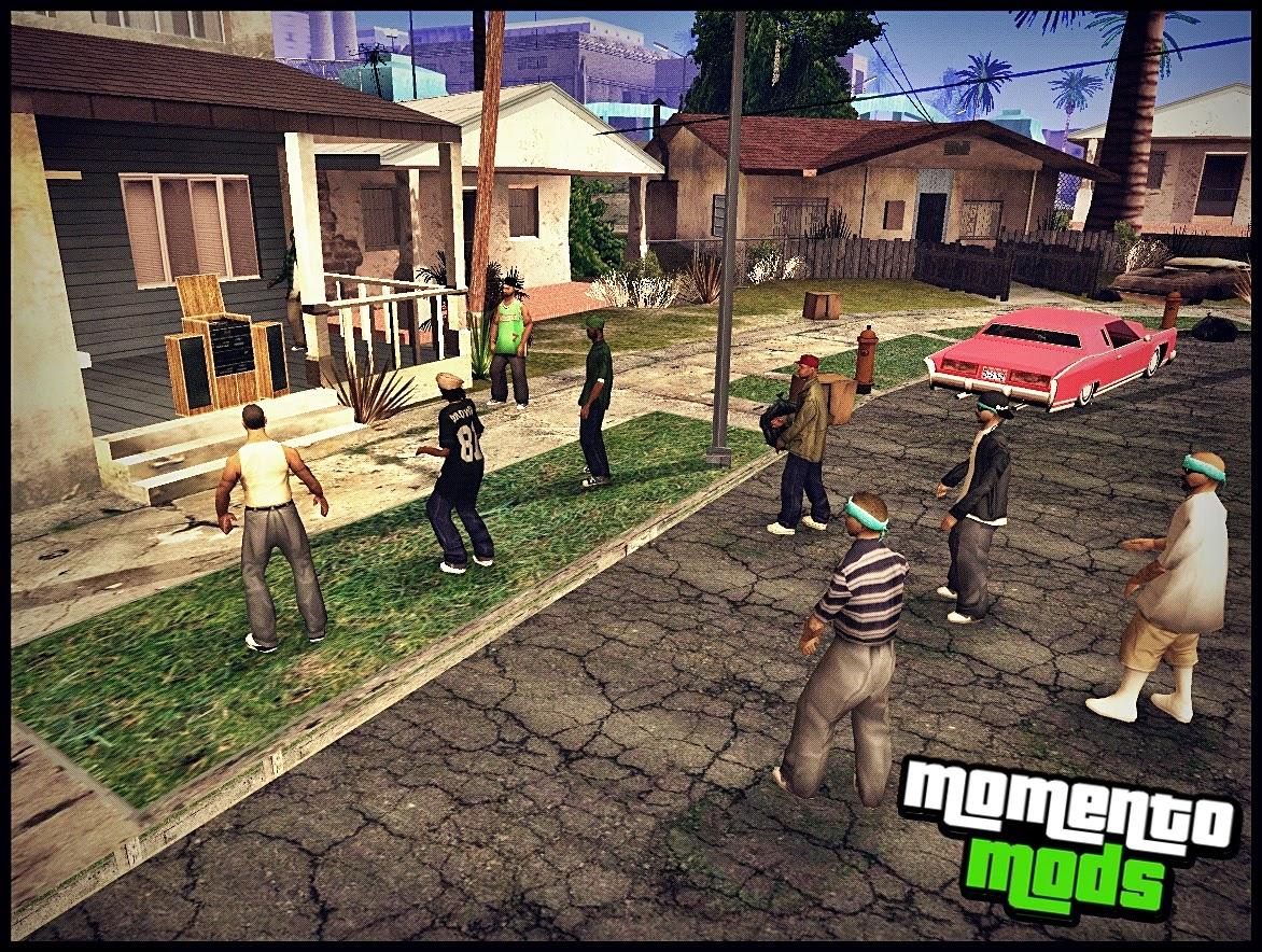 GTA SA - Mod Festa Na Groove Street Partido No Distrito