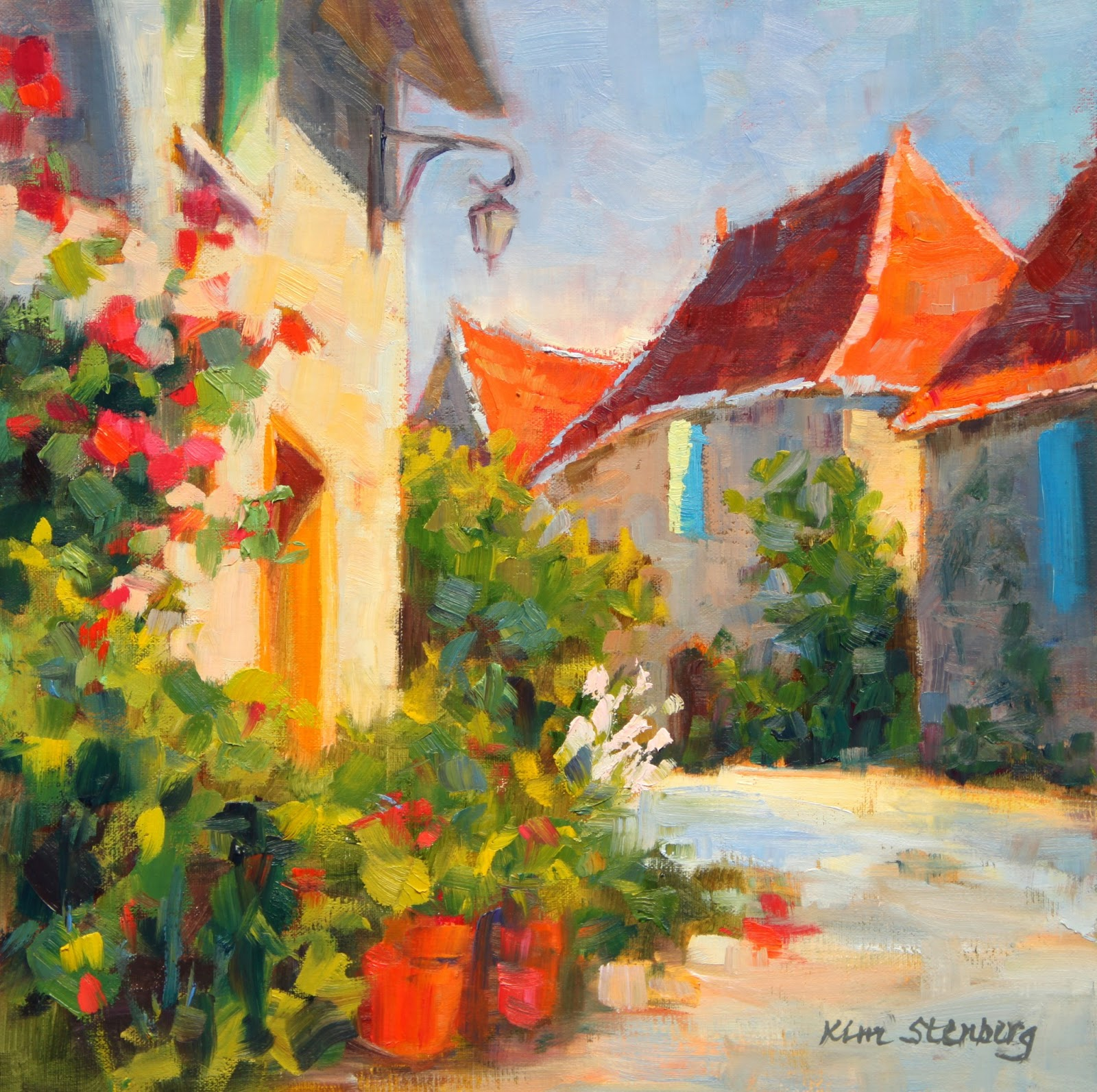 Kim Stenberg39s Painting Journal QuotFrench Villagequot Oil On Linen