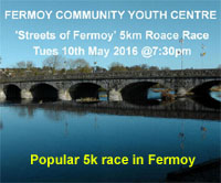 5k in Fermoy, Co.Cork...Tues 10th May