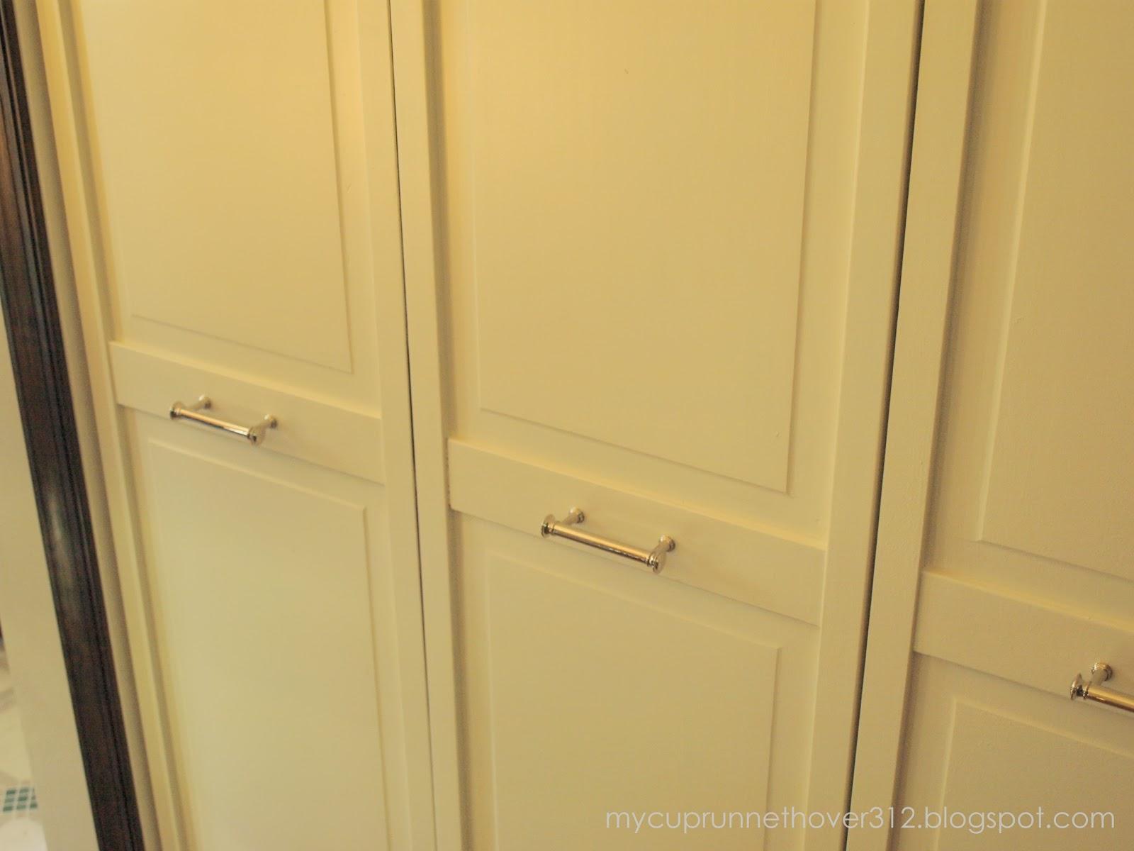 Closet door handles