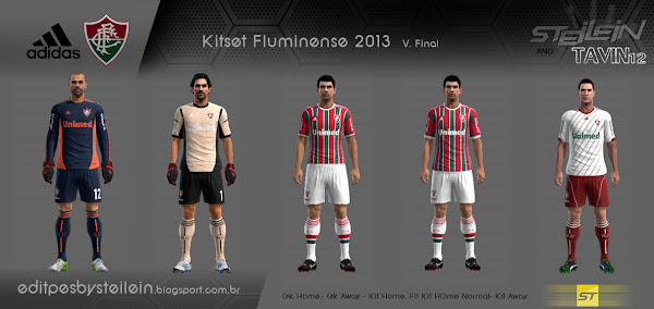 PES 2013 Fluminense 2013 Kits by Steilein