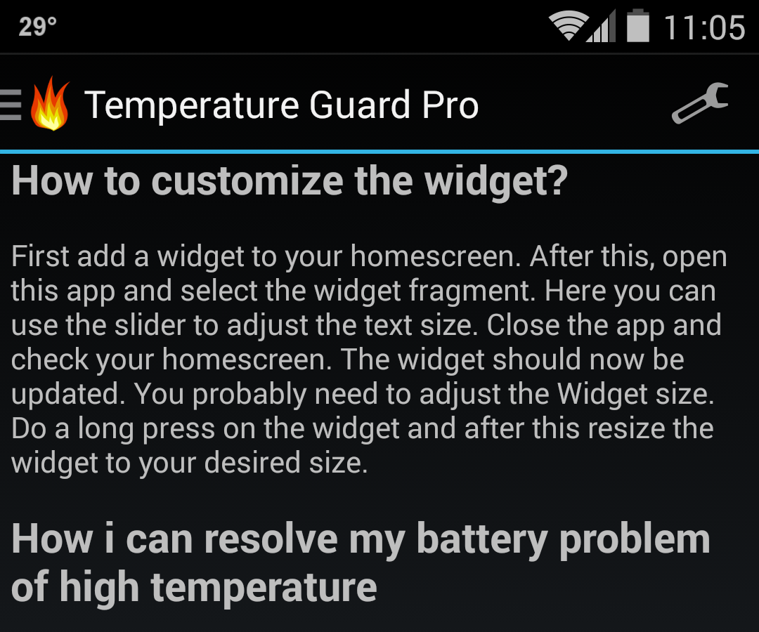 android temperature guard faq