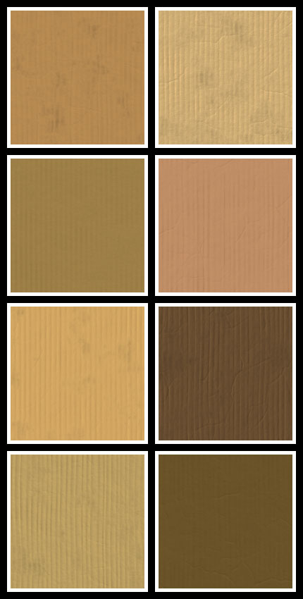 Cardboard seamless tiling patterns preview