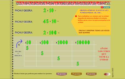 Multiplicación por la unidad seguida de ceros, Matemáticas, cálculo