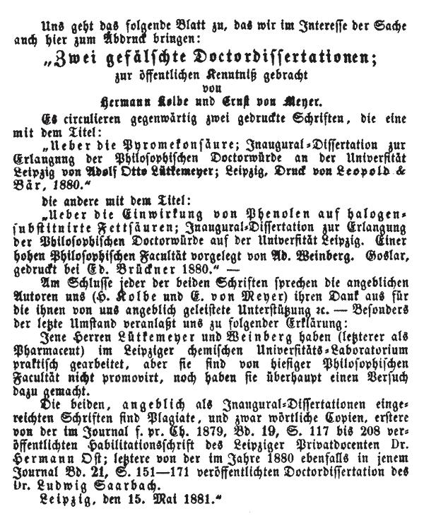 Literarisches Centralblatt 1881