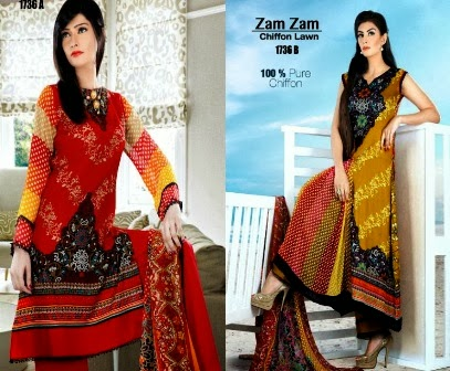 Best Chiffon Lawn Designs in 2014