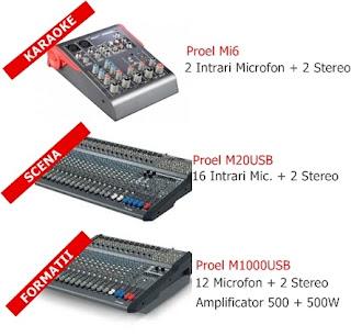 mixere audio profesionale marca Proel Italia