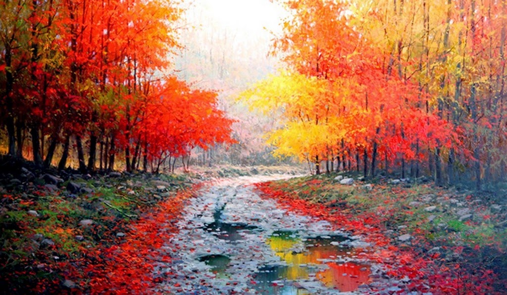 cuadros modernos pinturas y dibujos paisajes