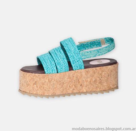 Sandalias bases de corcho primavera verano 2015 Hoku Shoes.