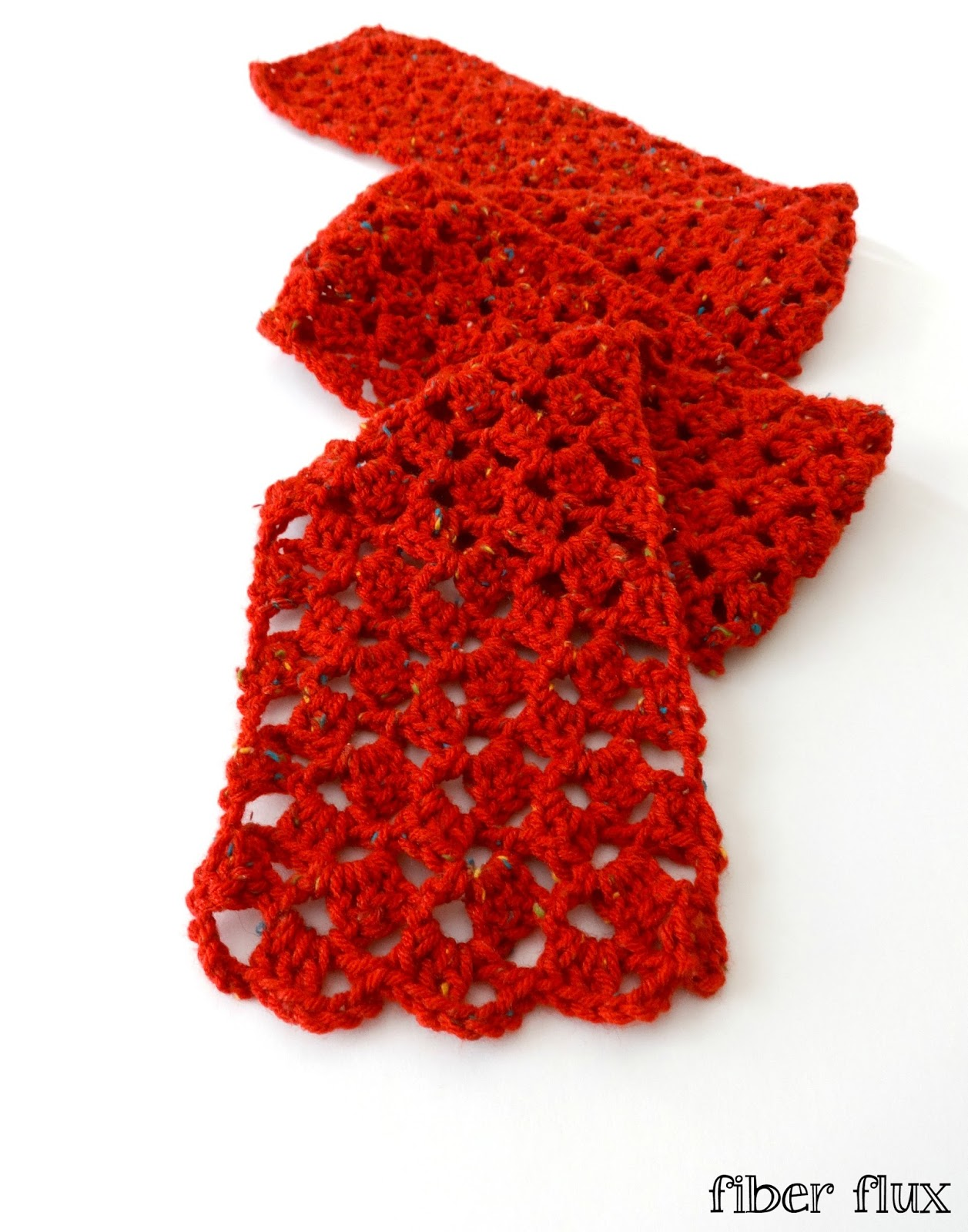 Fiber Flux: Free Crochet Pattern...Love Notes Scarf!