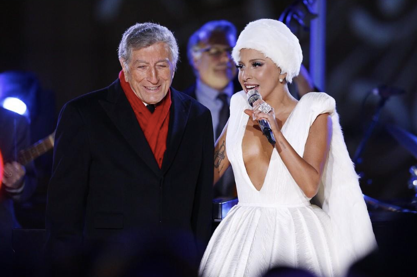 Lady Gaga y Tony Bennett en Rockefeller Center