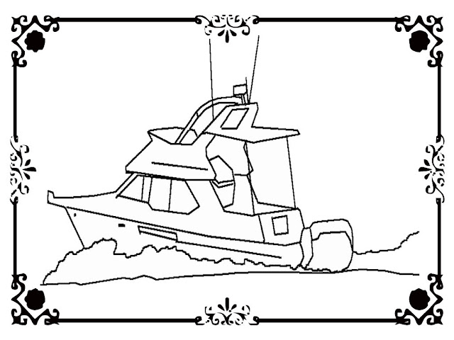 Cruise ship coloring pages to print