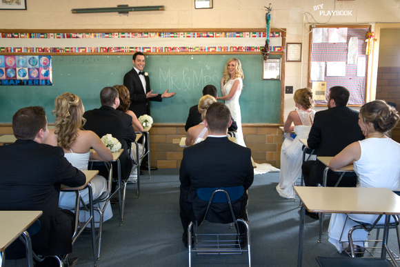classroom wedding pictures