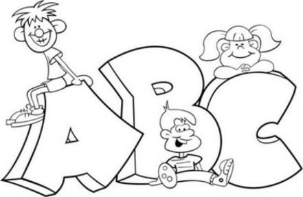 Alphabet Coloring Page - Back to School coloring ~ Child Coloring