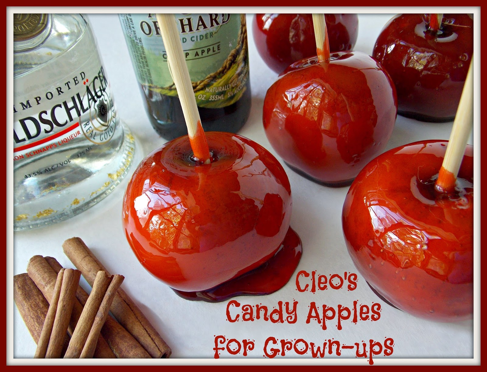 cinnamon schnapps spiked candy apples - Periodic Table Tin Apple