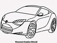 Gambar Mobil Sport Toyota Untuk Diwarnai