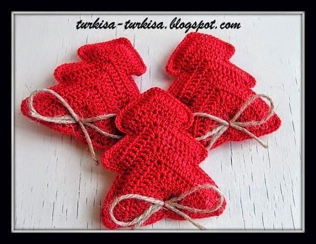 Adornos de navidad pino para colgar al crochet todo crochet - Adornos navidenos crochet ...