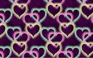 Hintergrundmuster mit Herzen 1