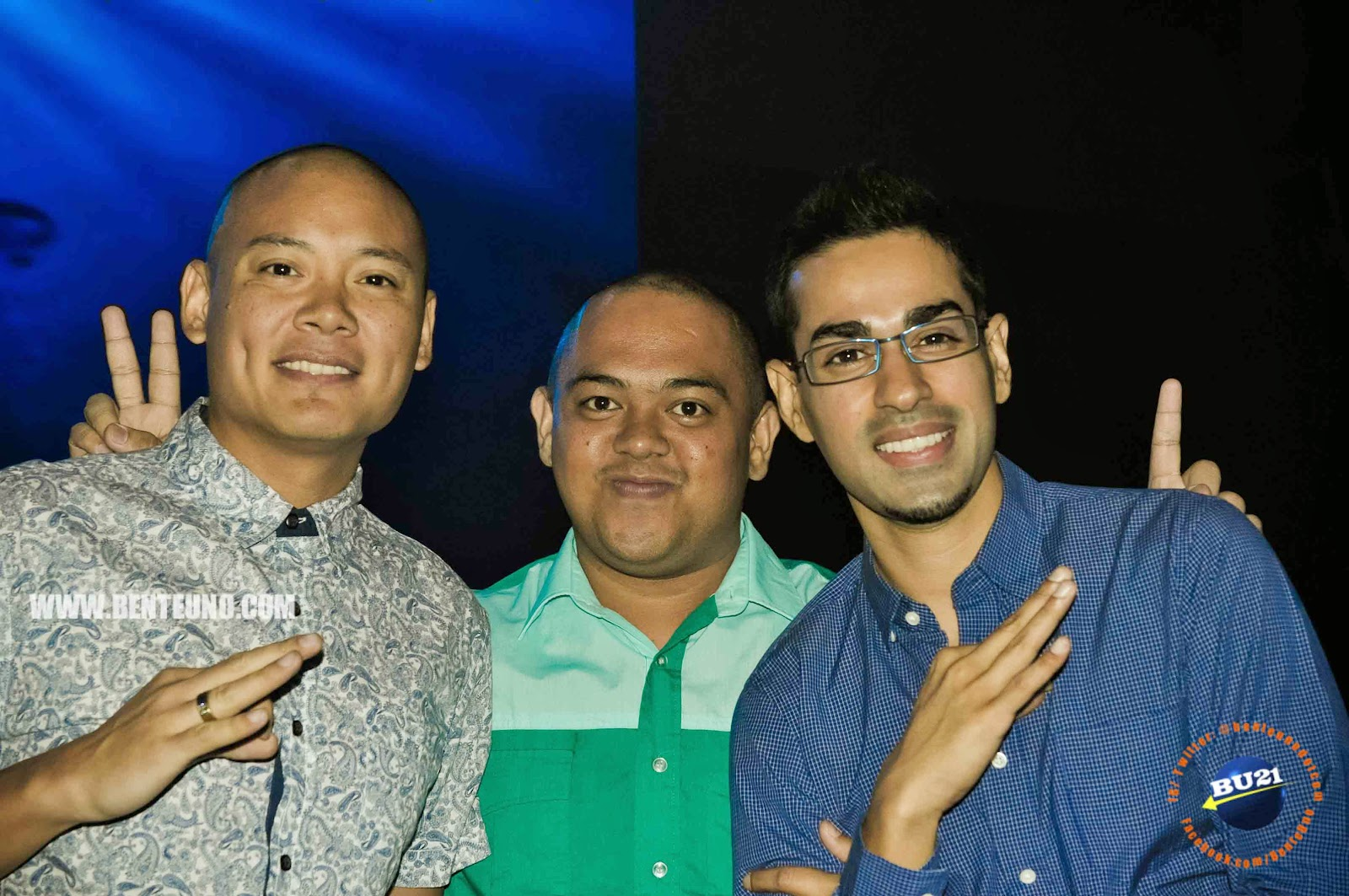 Boys Night Out minus Slick Rick spotted at the Launch of Galaxy S5