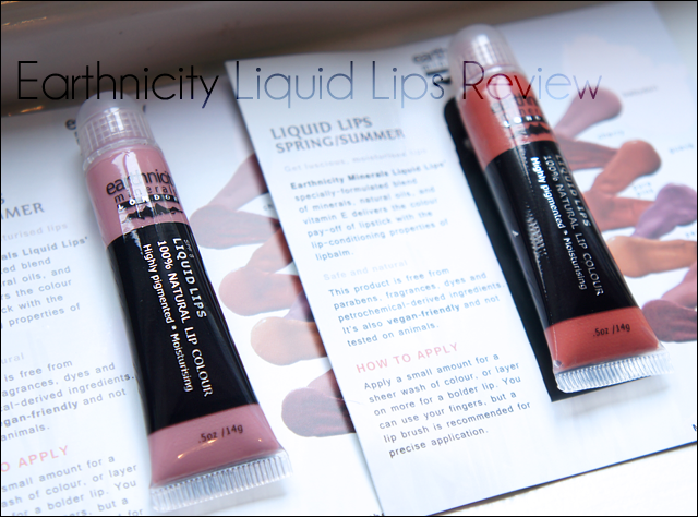 Earthnicity Liquid Lips Babydoll and Guava Review