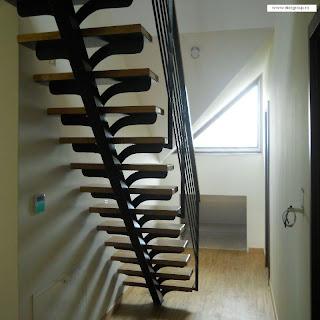 scari de interior: scari pe vang