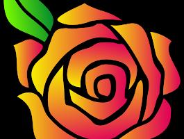 Flowers As A Cartoon Rose Drawings