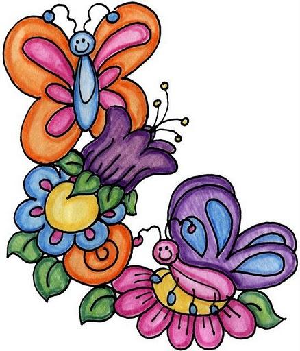 Mariposas y flores mariposas en imagenes para imprimir