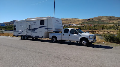 5th wheel site move in Spain