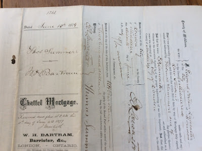 1879 Document Summers & Bartram, London Middlesex Ontario
