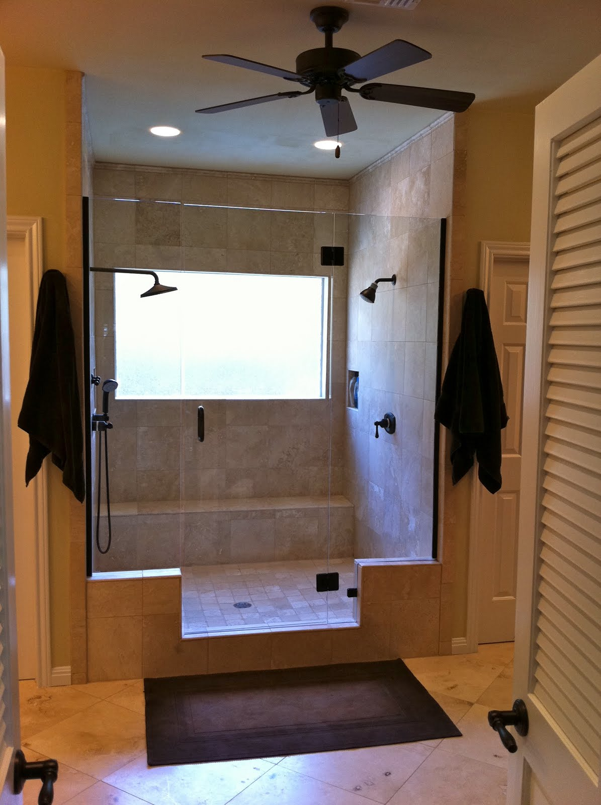 Bathroom Remodel No Tub remodelaholic | master bathroom remodel with double shower