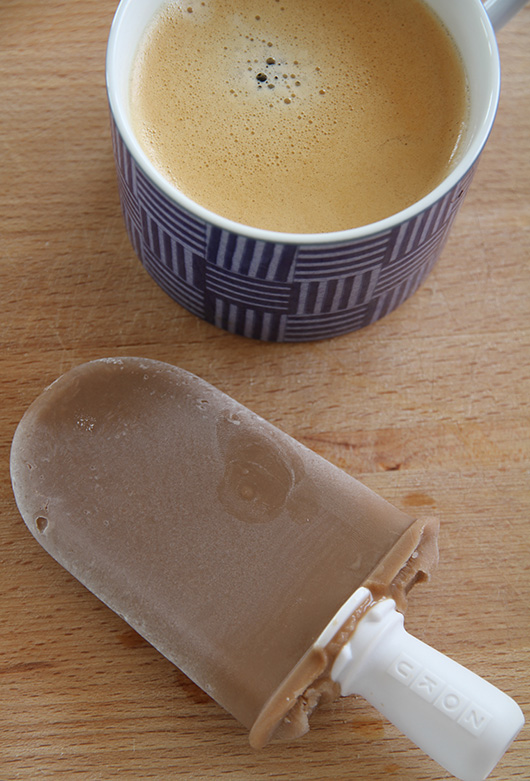 Chocolate Coffee Cream Popsicles