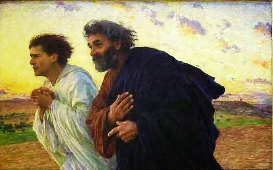 C'est La Semaine Sainte qui arrive ! Les-disciples-Pierre-et-Jea
