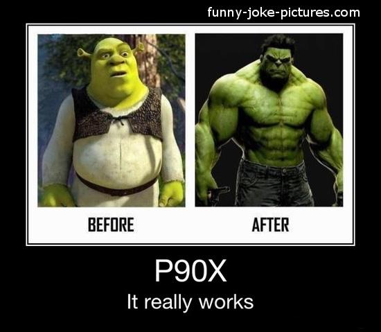 Funny Weightloss Advert Shrek Hulk Before After Photo