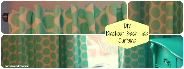 DIY Back-Tab Blackout Curtains