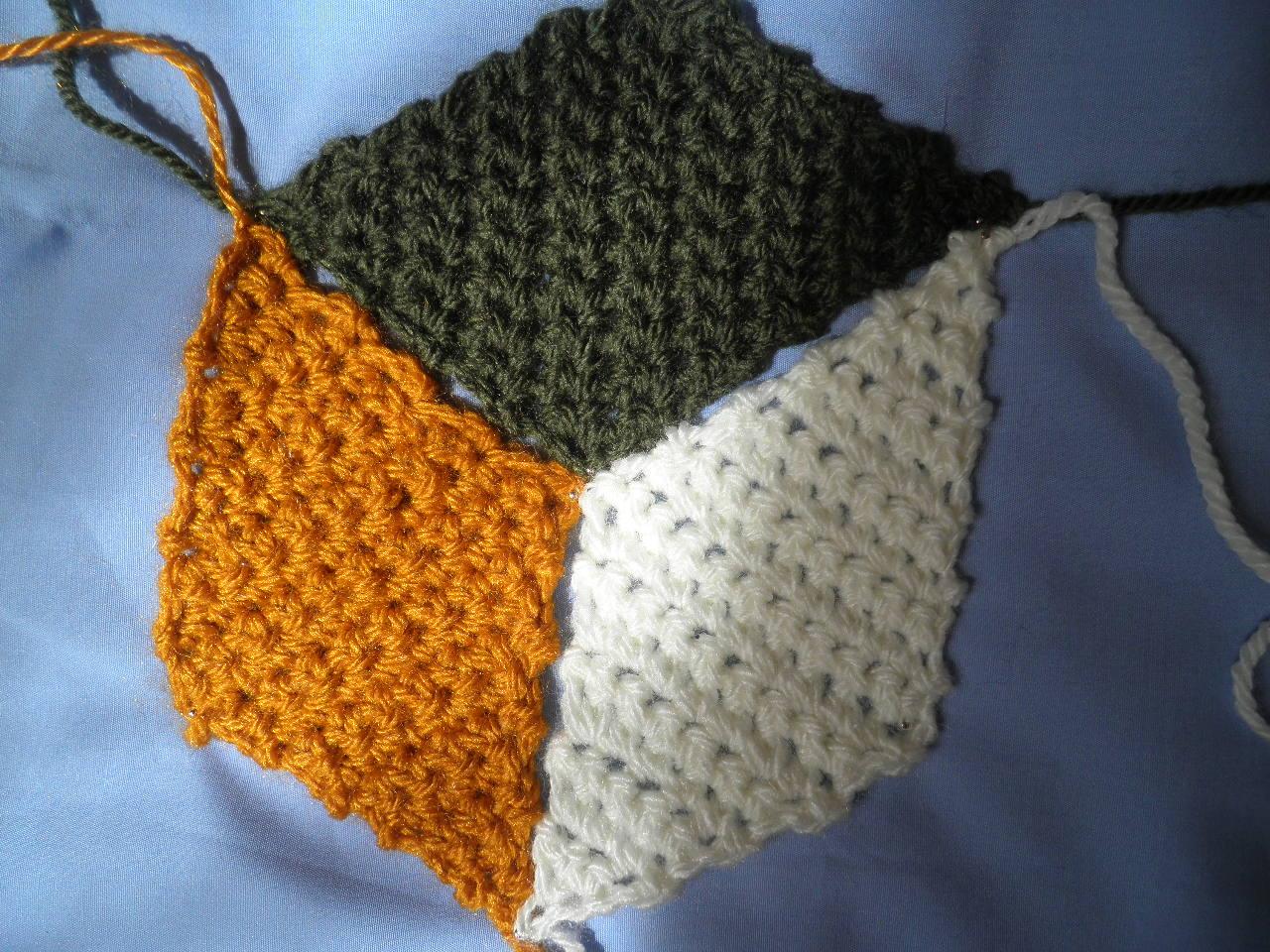 Artes anas rombos y cubos crochet estilo vasarely - Mantas de crochet paso a paso ...