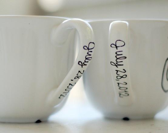 Viscid watch mr and mrs mug last name and wedding for Mug handle ideas