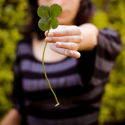Faith, hope, love and luck; the four leaf clover.  Photo: flickr user annais 