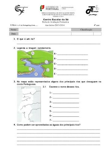 Ficha de Avaliação Formativa