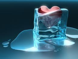 Melting Ice And Heart 3D Wallpaper For Iphone