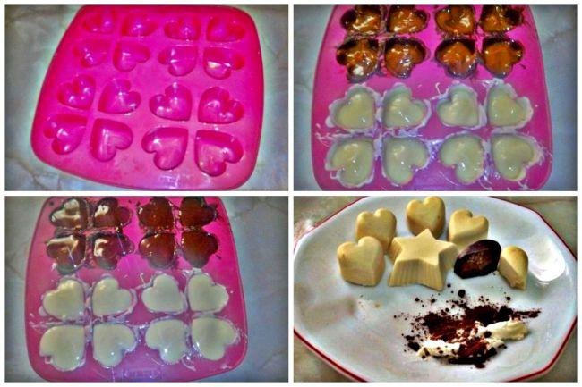Preparación de los bombones de san valentín