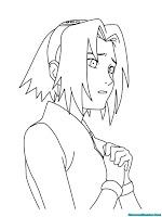 Mewarnai Gambar Sakura Berdoa