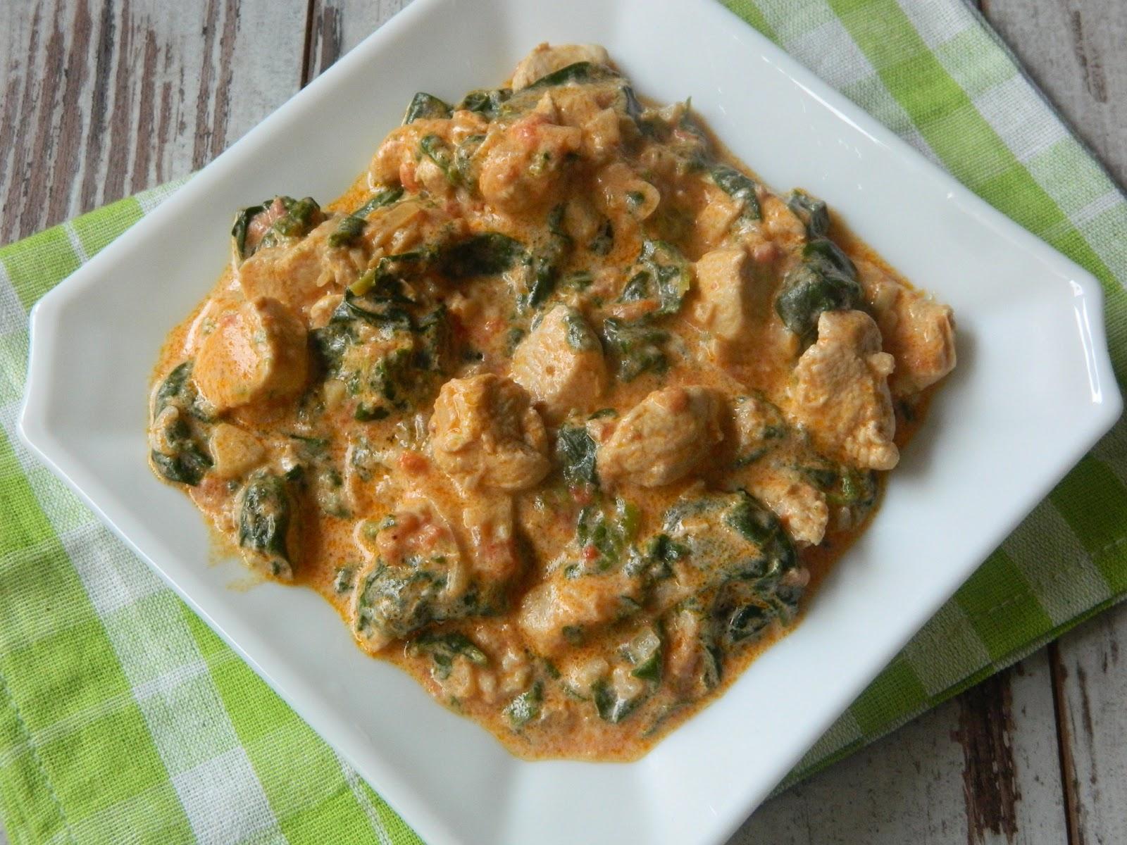 Curry cu spanac si carne de pui