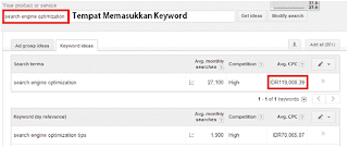 Keyword Planner Interface Netfori