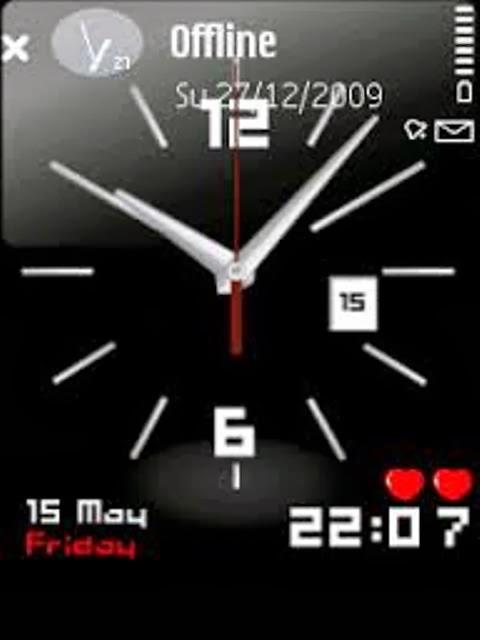 заставка часы для телефонов nokia 6300 № 21165 бесплатно