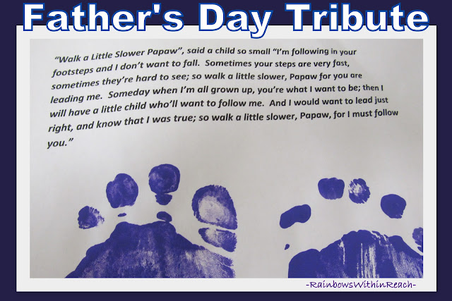 photo of: Father's Day Poem for footprints,